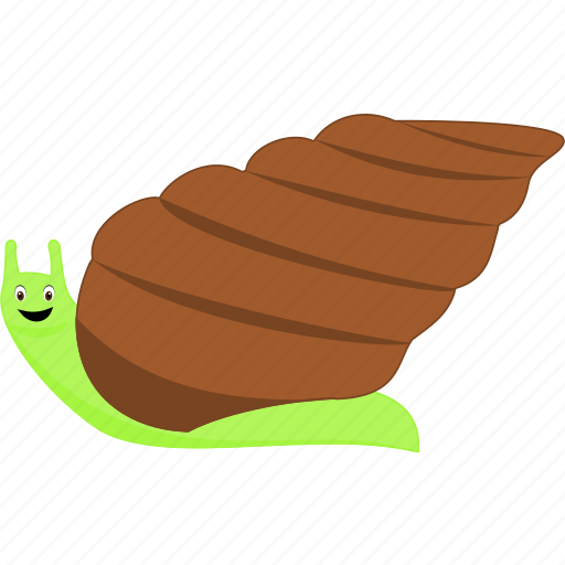 brown, domestic, green, snail, wild icon