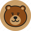 animal, bear, head, logo, teddy, wild, zoo icon