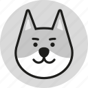 animal, cute, head, logo, wild, wolf, zoo icon