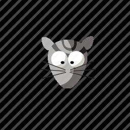 animal, cartoon, cat, face, pet icon