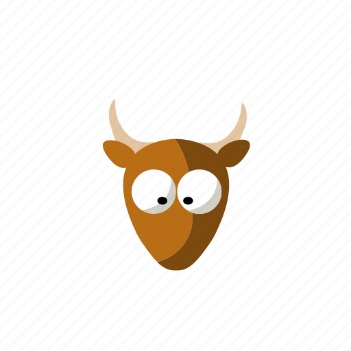 agriculture, animal, cow, face icon