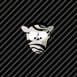 animal, zebra icon