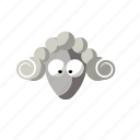 animal, cartoon, funny, sheep icon