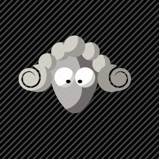 animal, cartoon, funny, sheep icon