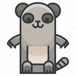 animal, animals, cute, nature, racoon, rodent icon