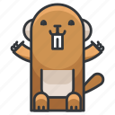 animal, animals, beaver, nature, wild icon