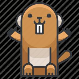 animal, animals, beaver, nature, wild icon