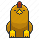 animal, bird, chicken, farm, nature icon