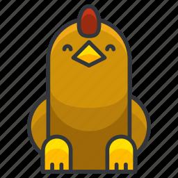 animal, bird, chicken, farm, nature icon