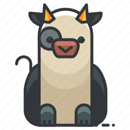 agriculture, animal, animals, cow, farm, nature icon