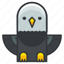 animal, bird, eagle, nature, wild, wing icon