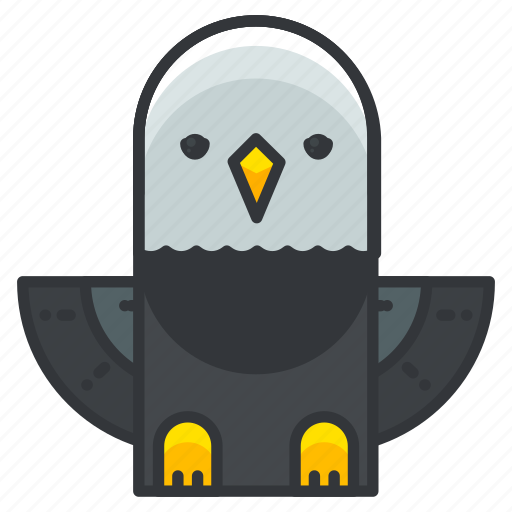 animal, bird, eagle, nature, wild, wing icon