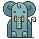 animal, elephant, mammal, wild, zoo icon