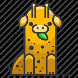 africa, animal, giraffe, wild, wildlife, zoo icon