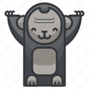 animal, animals, ape, gorilla, monkey, zoo icon