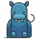 animal, hippo, hippopotamus, wild, wildlife icon