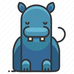animal, hippo, hippopotamus, wild, wildlife icon