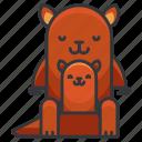 animal, australia, kangaroo, kangaroos, wild icon
