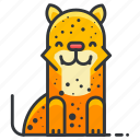 animal, animals, jungle, leopard, wild icon