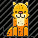 leopard, animal, animals, jungle, wild icon