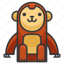 animal, animals, ape, monkey, wild, zoo icon