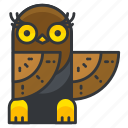 animal, bird, nature, owl, wild icon