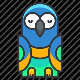 animal, bird, nature, parrot, pet icon
