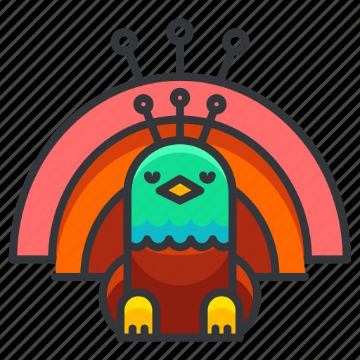 animal, bird, birds, peacock, wild, zoo icon