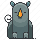 animal, nature, rhino, rhinoceros, wild, zoo icon