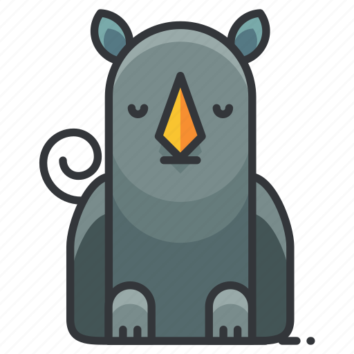 animal, nature, rhino, rhinoceros, wild, zoo icon