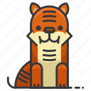 animal, animals, nature, tiger, wild, zoo icon