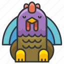 animal, nature, thanksgiving, turkey, wild icon