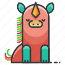 animal, animals, horn, horse, magic, unicorn icon