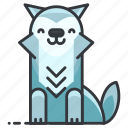 animal, animals, coyote, fox, wild, wolf icon