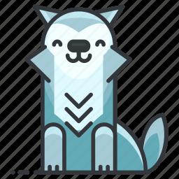 animal, animals, coyote, fox, wild, wolf icon