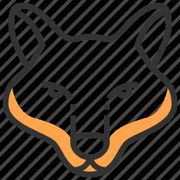 animal, face, fox, head, wolf icon