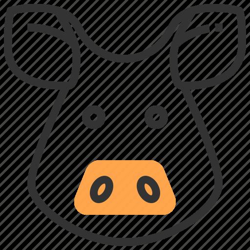 animal, face, head, pig icon