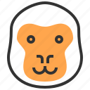 animal, face, gorilla, head, monkey icon