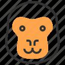 animal, face, head, gorilla, monkey
