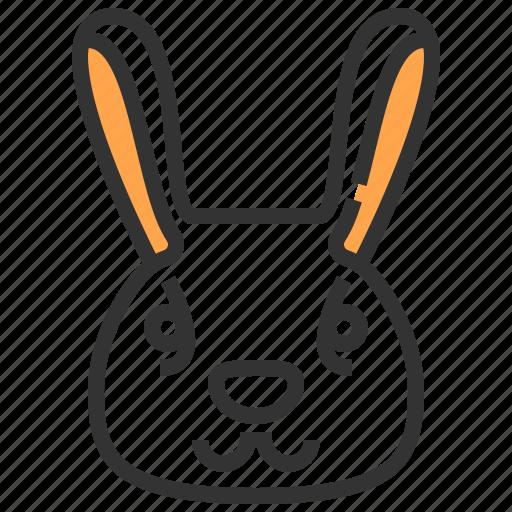 animal, face, head, rabbit icon
