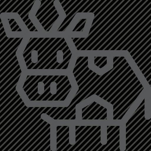 animal, cow, domestic, farm, nature, wild icon