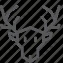 animal, deer, nature, wild, woods icon