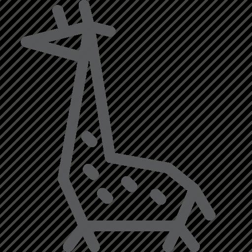 animal, giraffe, nature, wild icon