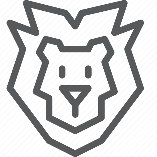 animal, dangerous, king, lion, nature, wild icon
