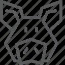 animal, domestic, farm, nature, pig icon