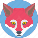 animal, coyote, fox, fox face, fox head icon