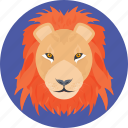 angry lion, animal, cartoon lion, lion, lion face, lion head icon