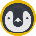 animal, auk, penguin, penguin face, puffin icon