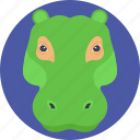 alligator, alligator face, animal, crocodile, wildlife icon
