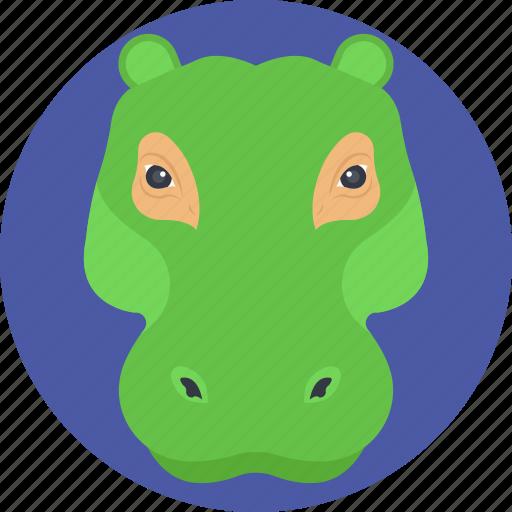 alligator, alligator face, animal, crocodile, wildlife icon